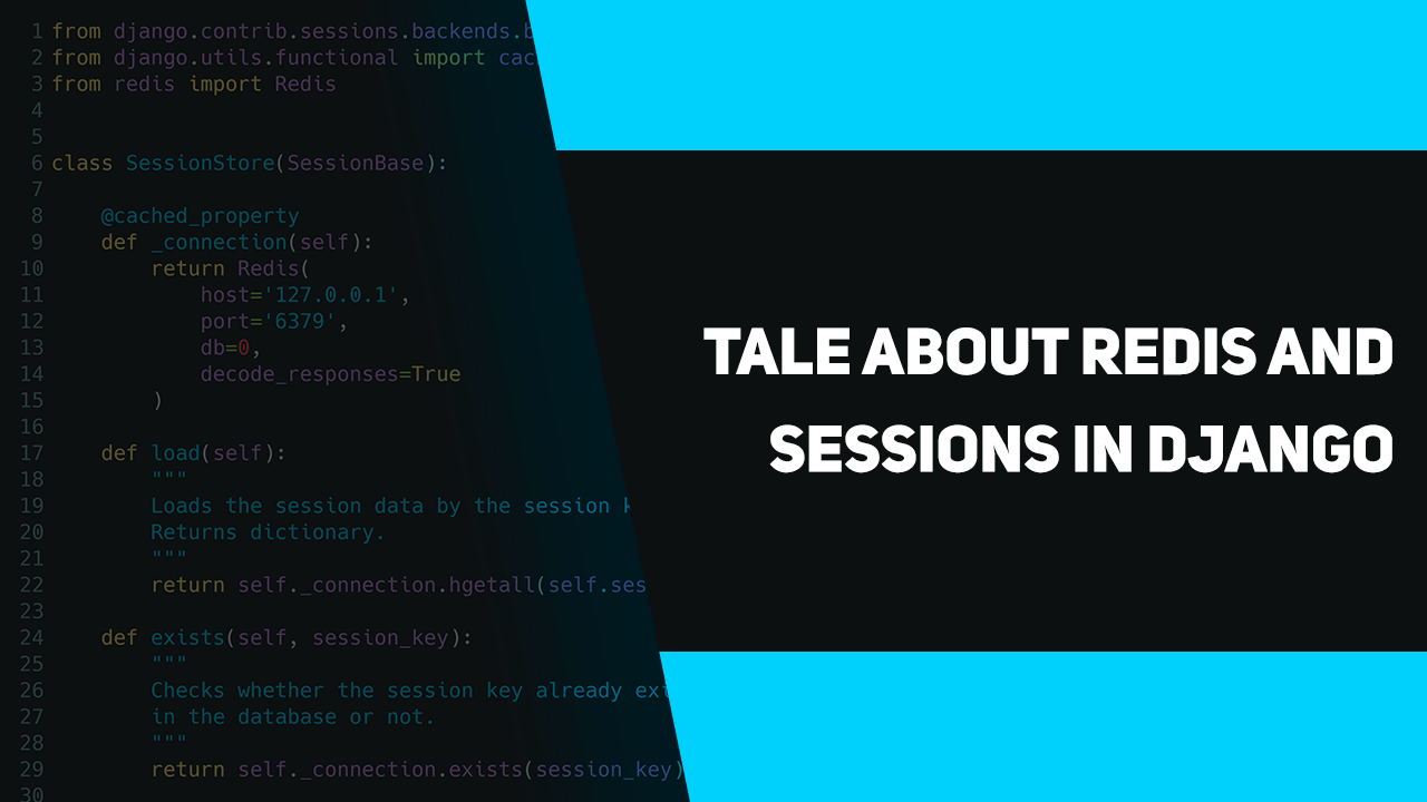 Tale about Redis and sessions in Django – apirobot